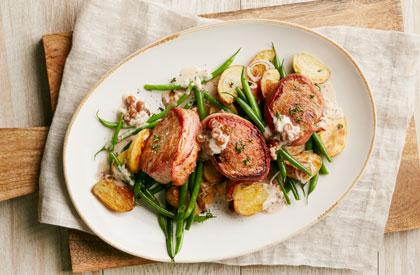 Photo de la recette de Tournedos de porc, sauce à la crème de moutarde