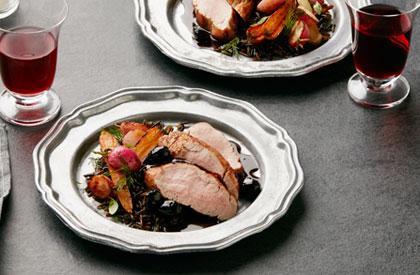 Photo de la recette de Filets mignons de porc au chocolat et olives