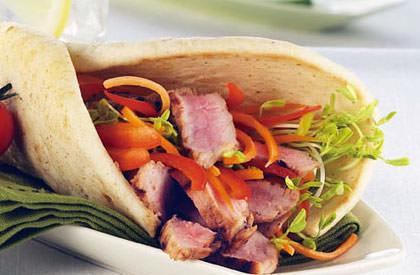 Photo de la recette de Sandwich tiède de porc aux parfums asiatiques