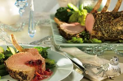Photo de la recette de Carré de porc à l'orange et aux canneberges