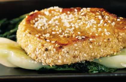 Photo de la recette de Côtelettes au sésame