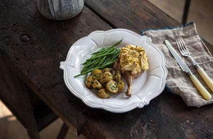 Photo de la recette de Carré de porc en croûte d'artichauts