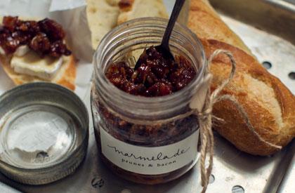 Photo de la recette de Marmelade au bacon et prunes noires