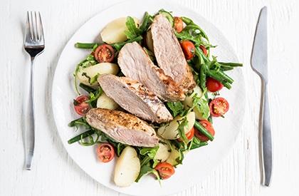 Photo de la recette de Salade niçoise à la longe de porc