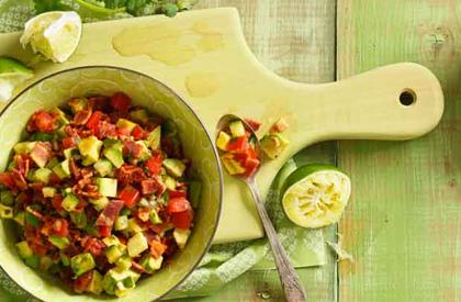 Photo de la recette de Salsa à l'avocat et au poivron rouge
