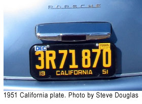 1951 California license plate