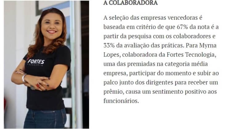 GPTW: Fortes Tecnologia é uma das melhores empresas para trabalhar no Ceará 4