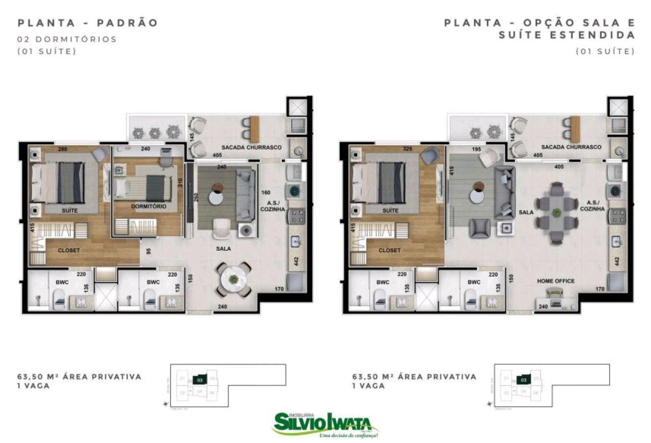 Apartamento à venda em Maringá - PR ,  Zona 03