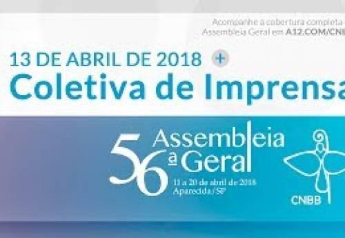 Coletiva de Imprensa do dia 13 de abril de 2018 – 56ª AG CNBB