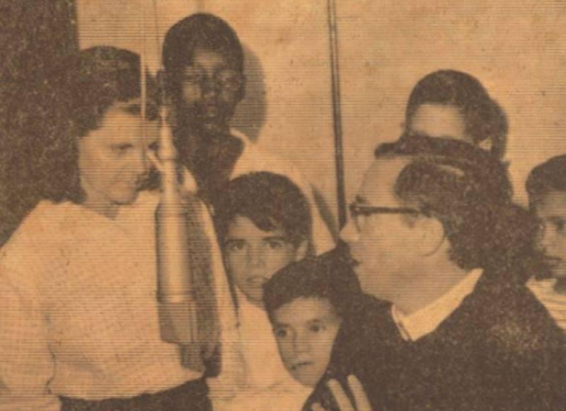 Semana Vocacional na Rádio Aparecida, em 1971.