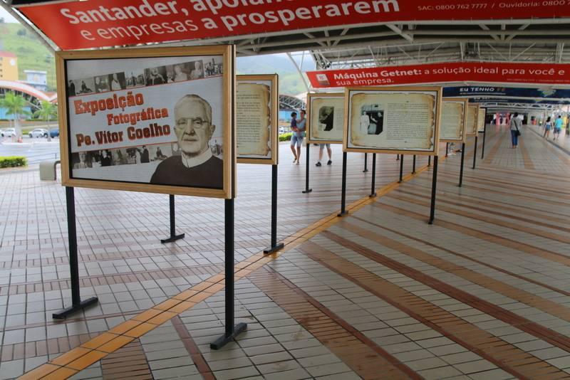 Padre Vítor é homenageado em exposição no Santuário