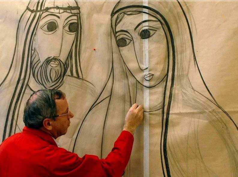 Conheça o artista responsável pelo revestimento das fachadas do Santuário
