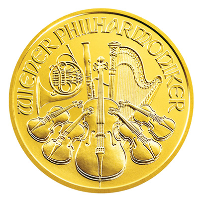 Gold Austrian Philharmonic (1 oz) Coin