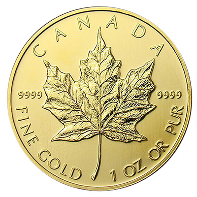 Gold Canadian Maple Leaf (1 oz) Coin
