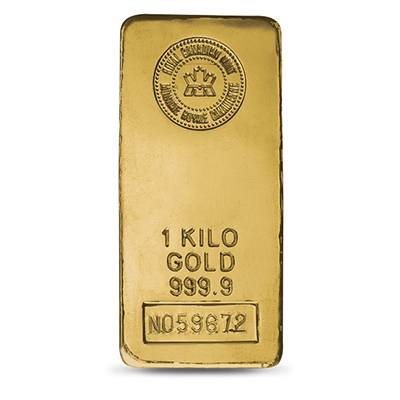 Gold 1 Kg (32.148 oz) Bar
