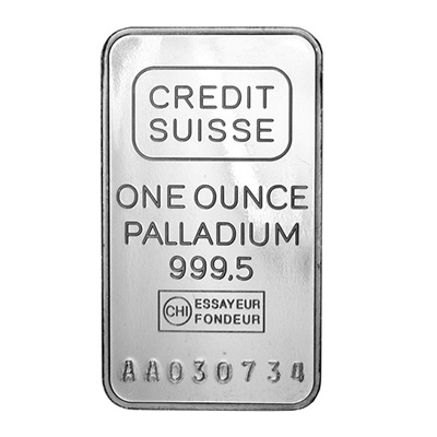 Palladium 1 oz Bar