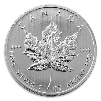 Silver Canadian Maple Leaf (1 oz) Coin