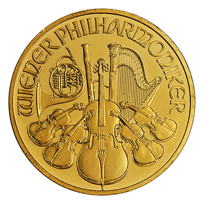 Gold Austrian Philharmonic (1 oz) Coin