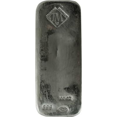 Silver 100 oz Bar