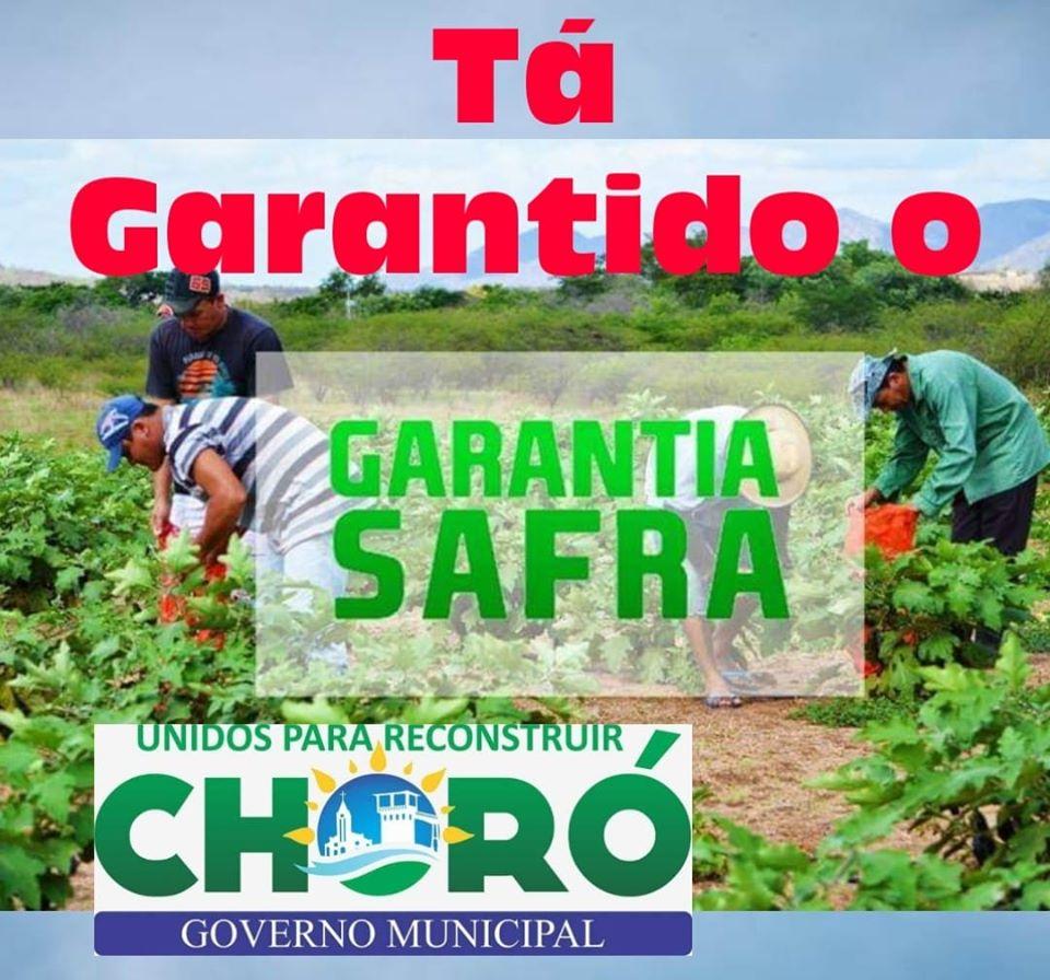 Seguro Safra estpa garantido aos agricultores de Choró