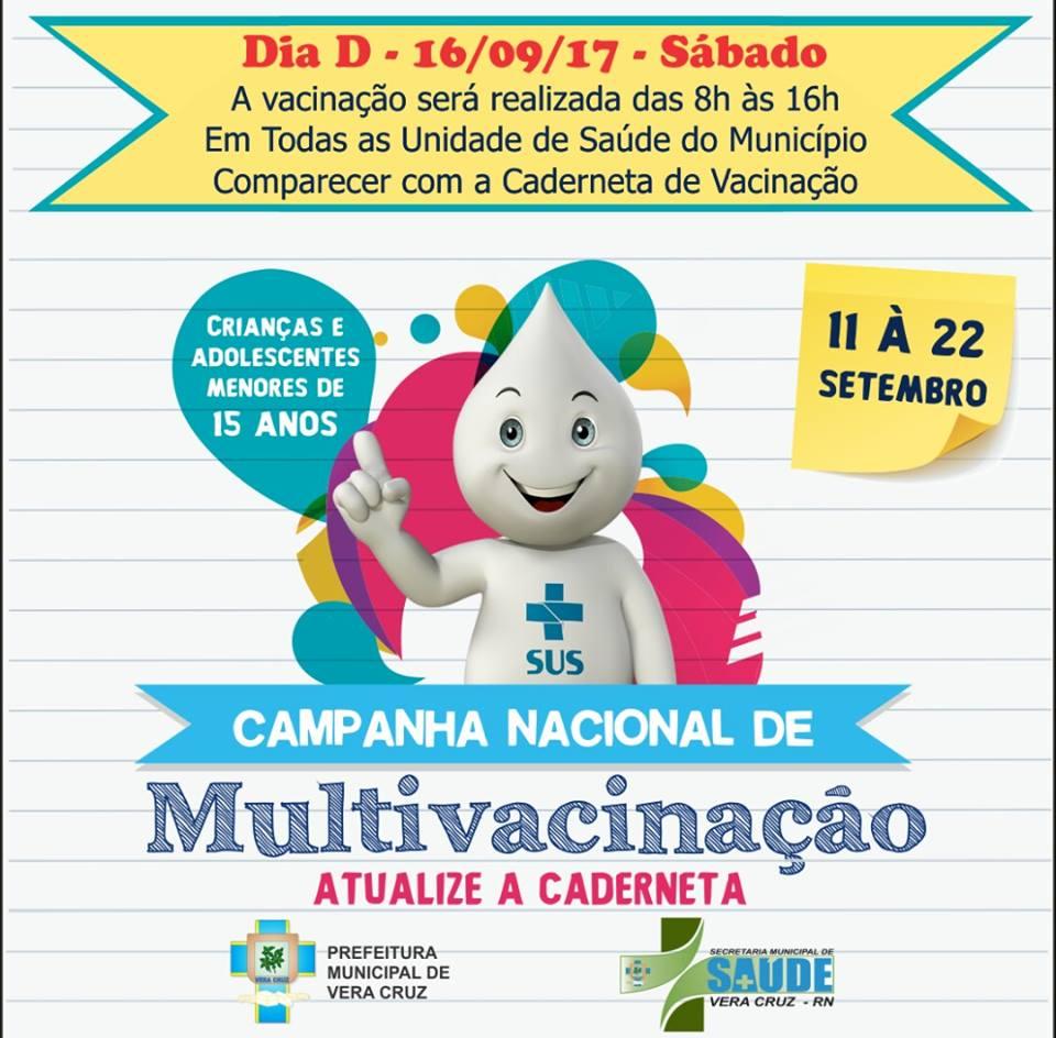Dia D de Vacinação - 16/09 - Atualização da caderneta de vacinação