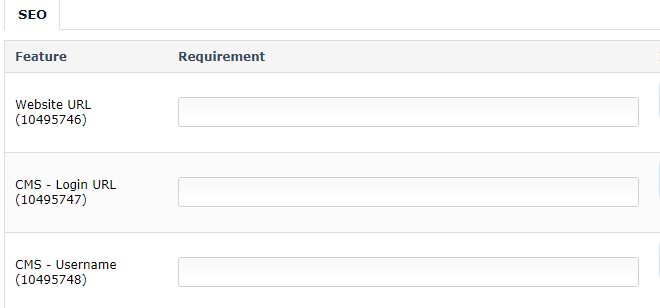 Project Requirements Questionnaire Update - SEO Reseller Forum