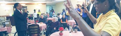 Weekly nursing home visits