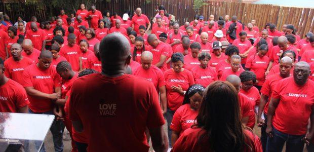 Caminhada do Amor em Bloemfontein, na África do Sul