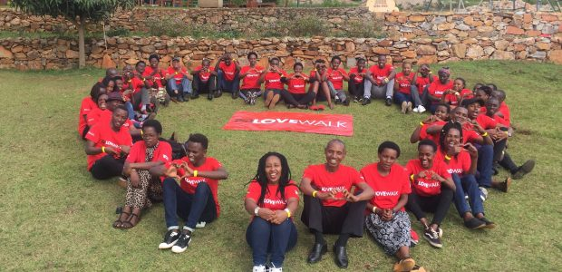 Caminhada do Amor em Ruanda (país africano)