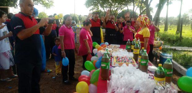 Ação social no Dia das Crianças: Penitenciária Estadual de Dourados, em Mato Grosso do Sul