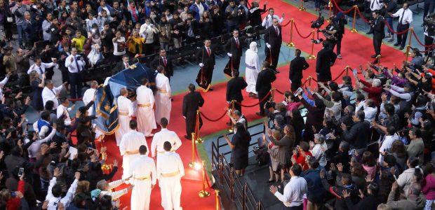 A réplica da Arca da Aliança chegou à Arena da Cidade do México