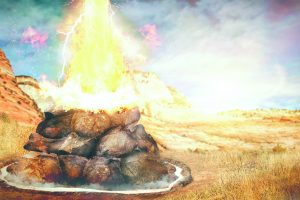O que o profeta Elias fez para o fogo descer?