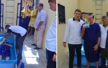 Primeiro batismo nas águas na Unidade Prisional de São Luís de Montes Belos