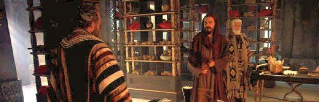 Barrabás avisa a Caifás que não irá matar Jesus