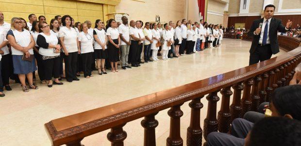 Grupo da Saúde: a maioria são médicos e enfermeiros que levam a Palavra de Deus
