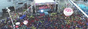 """""""Saiba Dizer Não"""" reúne 70 mil pessoas no Farol da Barra, em Salvador"""