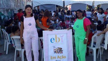 Escola Bíblica Infantil realiza ação com crianças carentes em Maceió