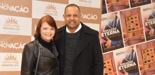 O vereador em São Paulo, André Santos e sua esposa