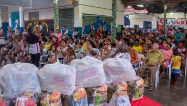 Bairro mais populoso de Mato Grosso recebe ajuda do Unisocial