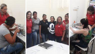 Detentas aprendem uma profissão no curso de corte e costura no Pará