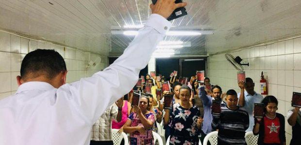 O evento também movimentou esta pequena igreja em Pernambuco
