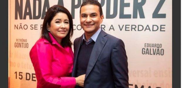 Deputado Marcos Pereira, ao lado de sua esposa, Margareth Pereira
