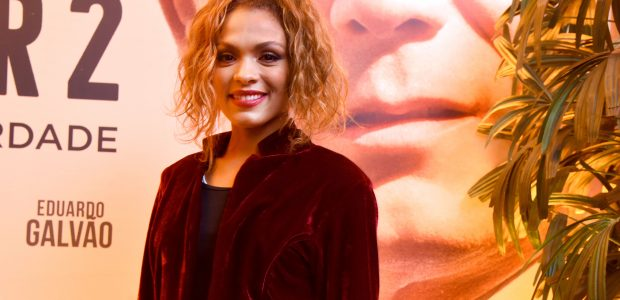 A atriz Lidi Lisboa, intérprete de Jezabel na macrossérie bíblica homônima