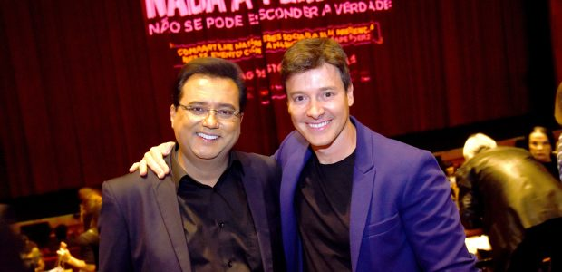 Os apresentadores da Record TV, Geraldo Luís e Rodrigo Faro