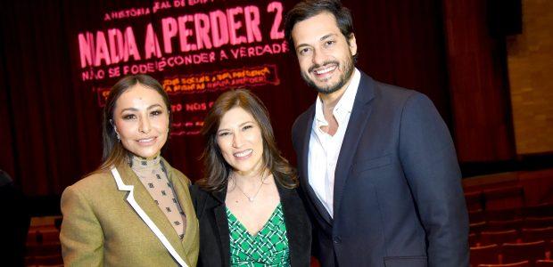 A apresentadora Sabrina Sato e os atores Beth Goulart e Raphael Vianna