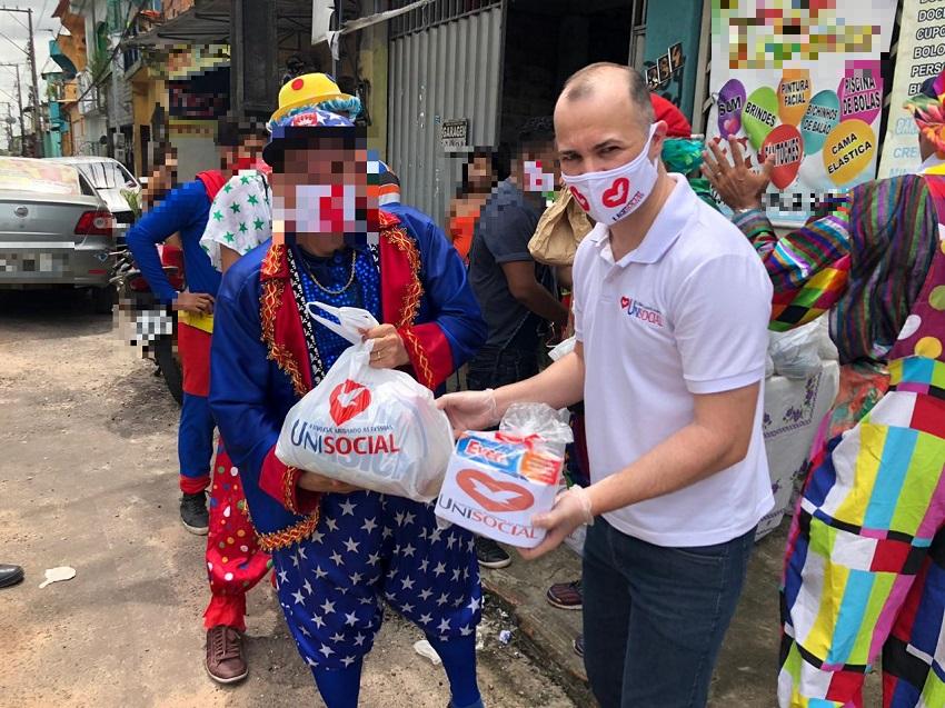 Projeto Unisocial auxilia grupo de palhaços e animadores de festas, no Pará