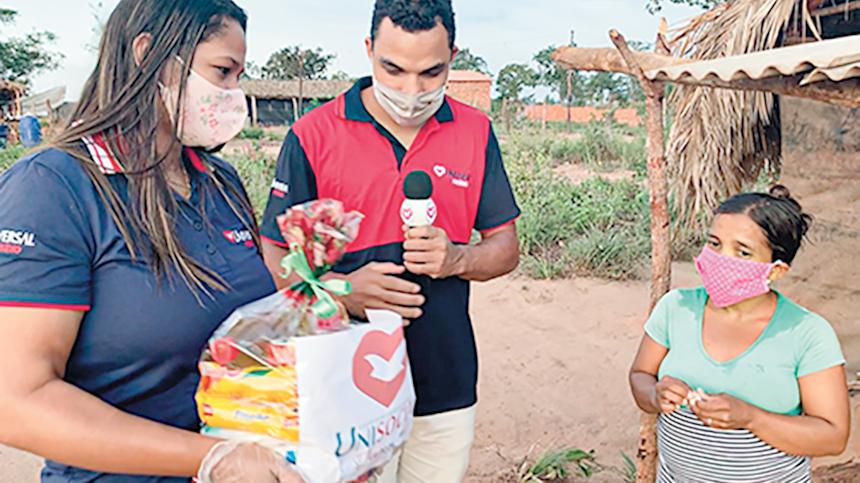 UNP doa cestas básicas para familiares de detentos