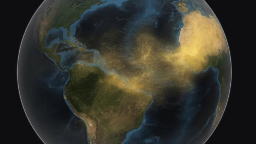 """Nuvem de poeira """"Godzilla"""" sai do Saara e atravessa o Oceano ..."""
