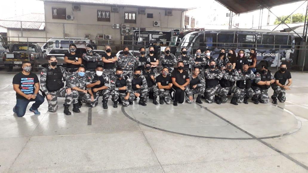 Policiais do CME-Pará participam do Momento de Reflexão promovido pelo programa UFP