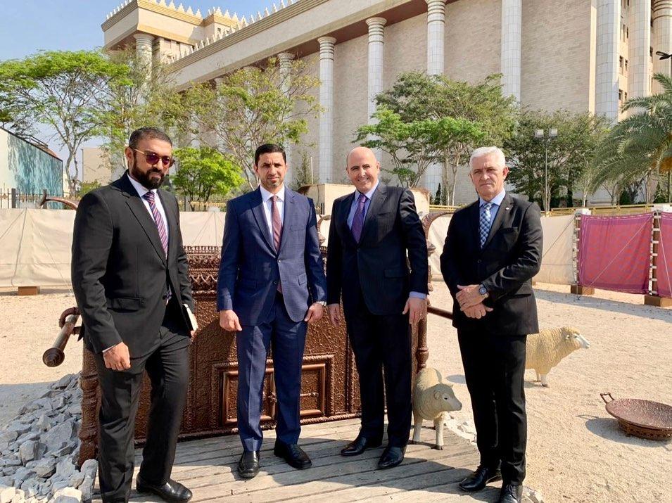 Cônsul-geral dos Emirados Árabes Unidos (EAU) em São Paulo visita o Templo de Salomão